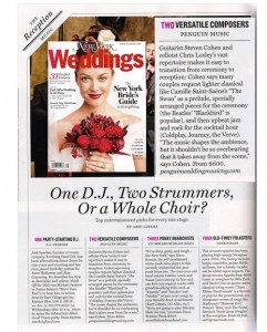 NY Weddings Magazine Featuring Penguin Music